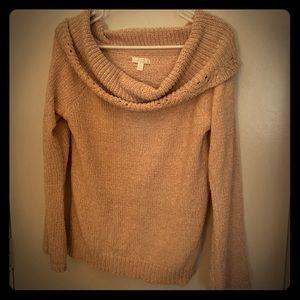 LC Lauren Conrad pale pink scoop sweater